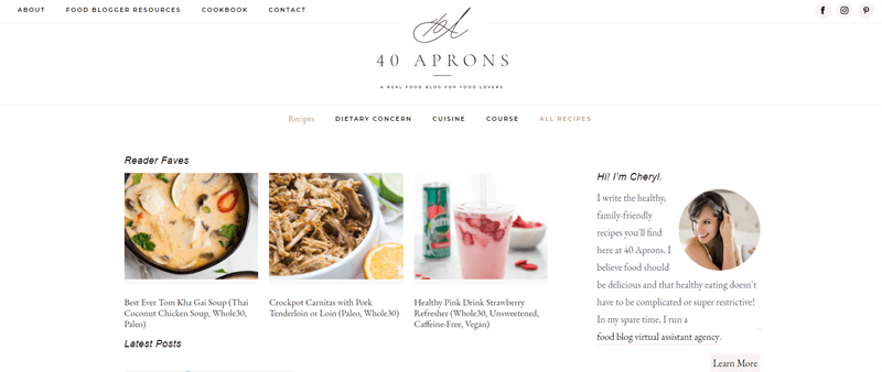 40 aprons blog