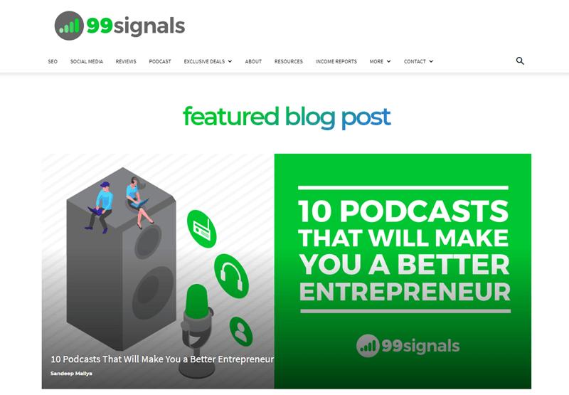 99 signals blog