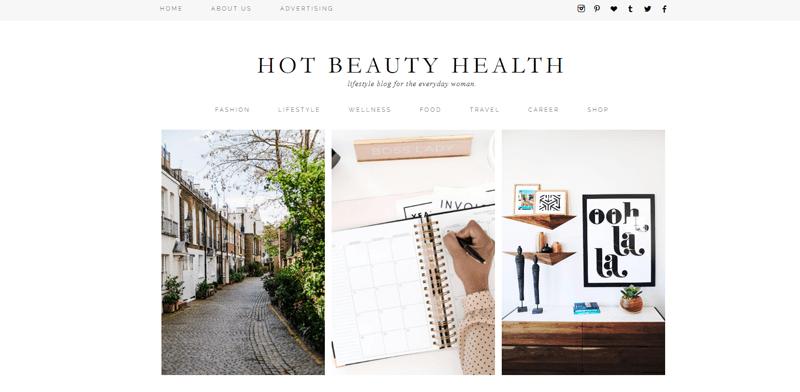 hot beauty health blog
