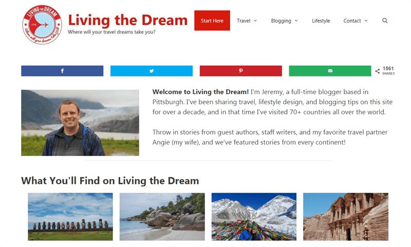 living the dream blog