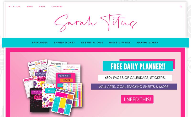 sarah titus blog