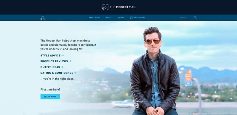 the modest man blog